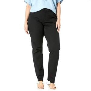 Chaps Black Straight Fit Pants Size 14 New